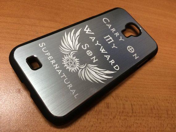 Laser-etched Supernatural phone case Devil's Trap by NevenEbrez