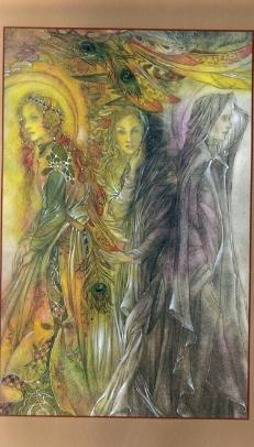 maiden mother crone: Sulamith Wulfung, Sulamith Wülfing, Artists Sulamith, Goddesses, Wulf Art, Fantasy Art, Illustration, Maiden Mothers Crone, Fairies Tales