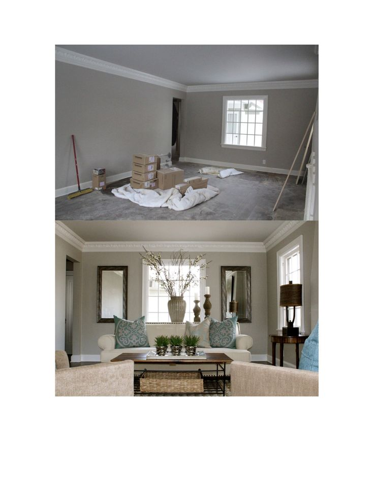 Vacant Home Staging... Did you know that adding furniture to a space actually makes a space look larger?  It also gives a buyer perspective on how their furnishing will look and fit into the space.  Vacant home staging before and after.