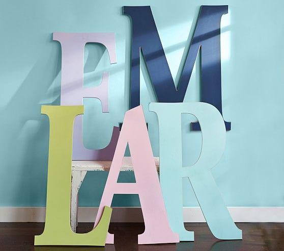 harper painted letters pottery barn kids 69 each. Black Bedroom Furniture Sets. Home Design Ideas
