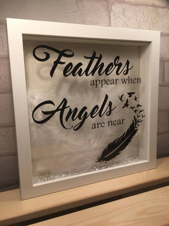 feathers appear when angels are near quote frame heaven