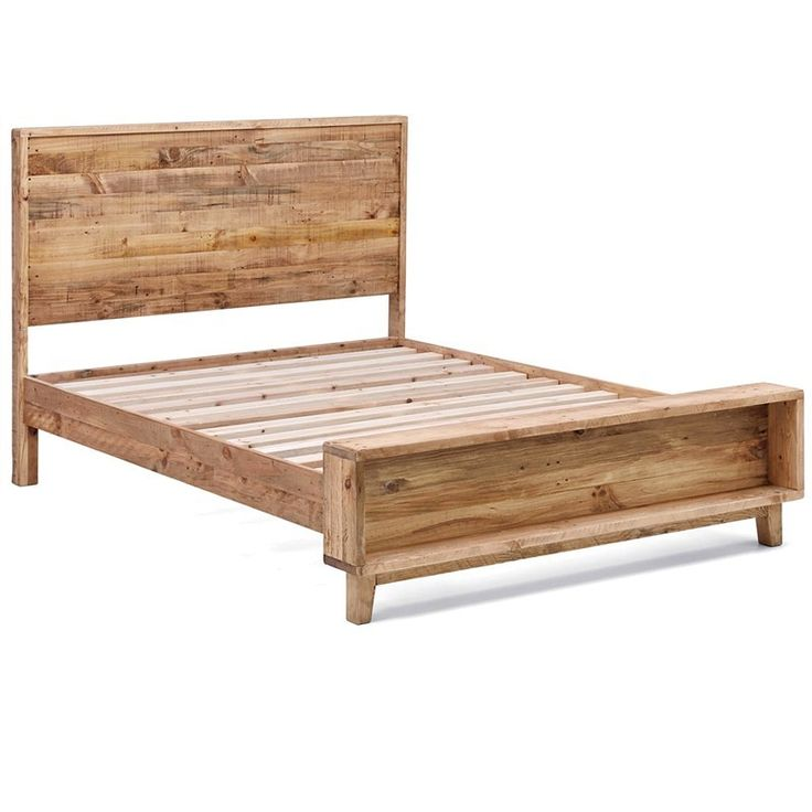 Portland Solid Recycled Pine Timber King Size Bed - Bed Frames - Bedroom - Furniture