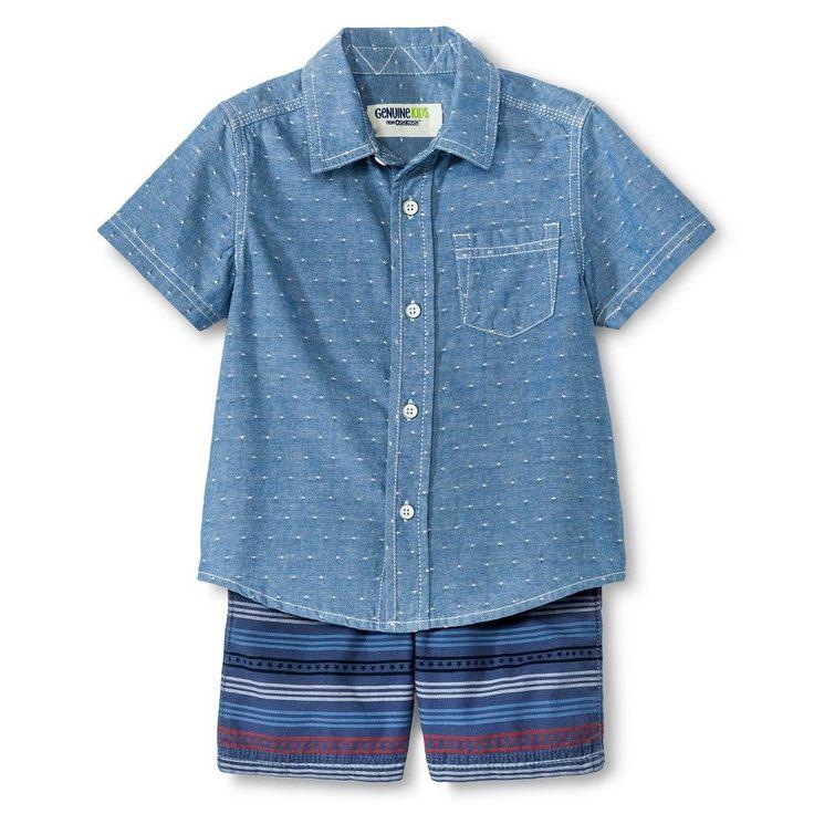 Baby Boys' Top And Bottom Set - Metallic Blue 12M - Genuine Kids from OshKosh, Infant Boy's, Size: 12 M