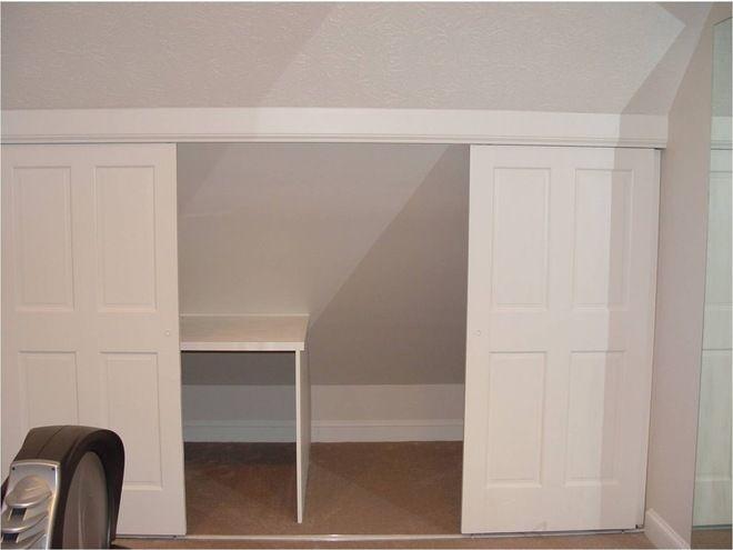Sliding Door In Knee Wall Knee Wall Storage Attic Closet Attic Attic Bedrooms