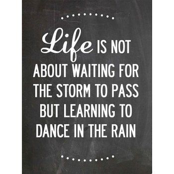 Dance In The Rain Print - Vintage Chalkboard - from eggcup & blanket UK