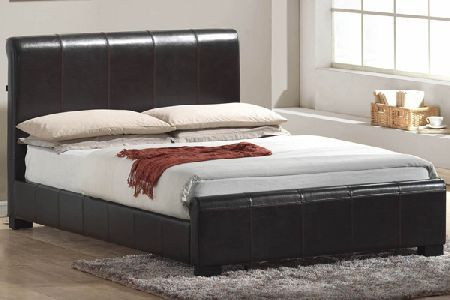 Bedworld Discount Chello Brown Leather Bed Frame Double 135cm Chello Brown Leather Bed from Bedworld is a modern bed with a low foot end design. Image shown is for illustration purposes. Please note Saturday delivery is not available on this item. http://www.comparestoreprices.co.uk/bedroom-furniture/bedworld-discount-chello-brown-leather-bed-frame-double-135cm.asp