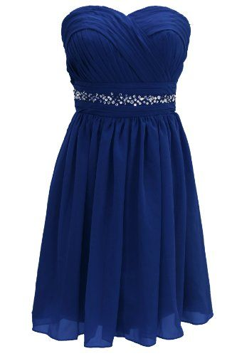 Dressystar short knee length royal blue bridesmaid dresses for Royal blue short wedding dresses