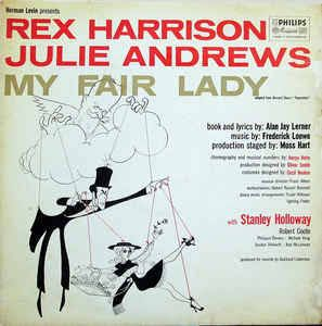 """Julie Andrews and Rex Harrison in the Broadway production of """"My Fair Lady,"""" 1956. My mum had this record and we played it to death 😊"""