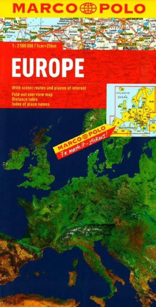 Netherlands Elevation Map%0A Buy map  Europe by Marco Polo Travel Publishing Ltd  u     YellowMaps Map Store