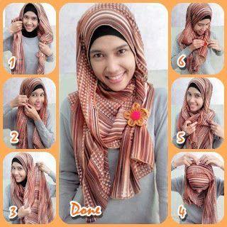 Cara memakai Jilbab Modern dan Gambar: Tutorials Hijabs, Cara Memakai, Hijabi Fashion, Wear Hijabs, Hijabs Fashion, Memakai Jilbab, Trendy Hijabs, Hijabs Tutorials, Hijabs Style