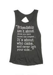 Friendship Quote Tank