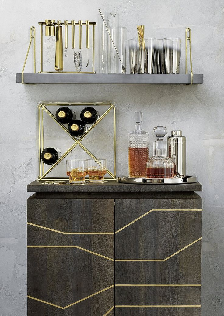 Metallic barware from CB2