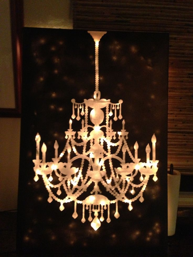 Chandelier canvas light art