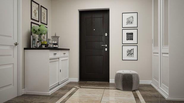 Ванную комнату объединили с санузлом, вход на кухню перенесли в гостиную, оборудовали помещения встроенными системами хранения – в интерьере этой двушки сделали ставку на функциональную планировку