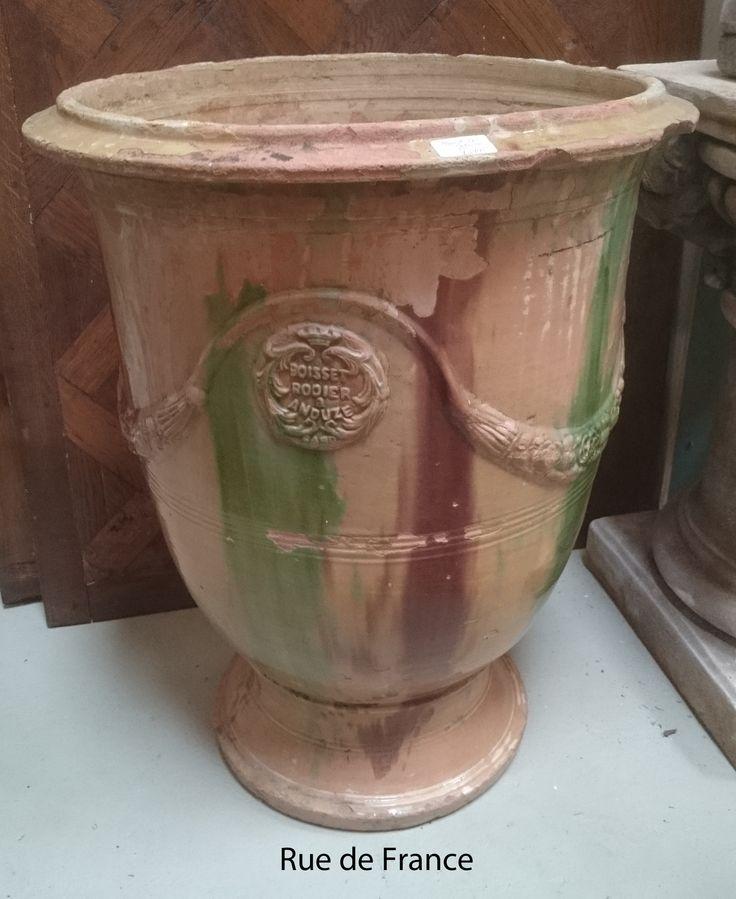 French Antique Terracotta Garden Pot By Boisset   Anduze