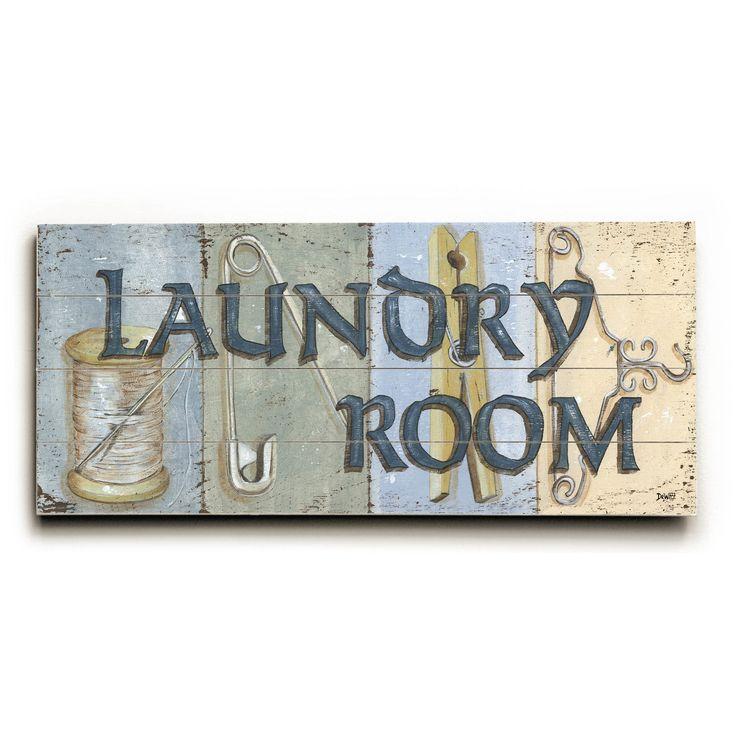 One Bella Casa Laundry Room - Wood Wall Decor by Debbie DeWitt