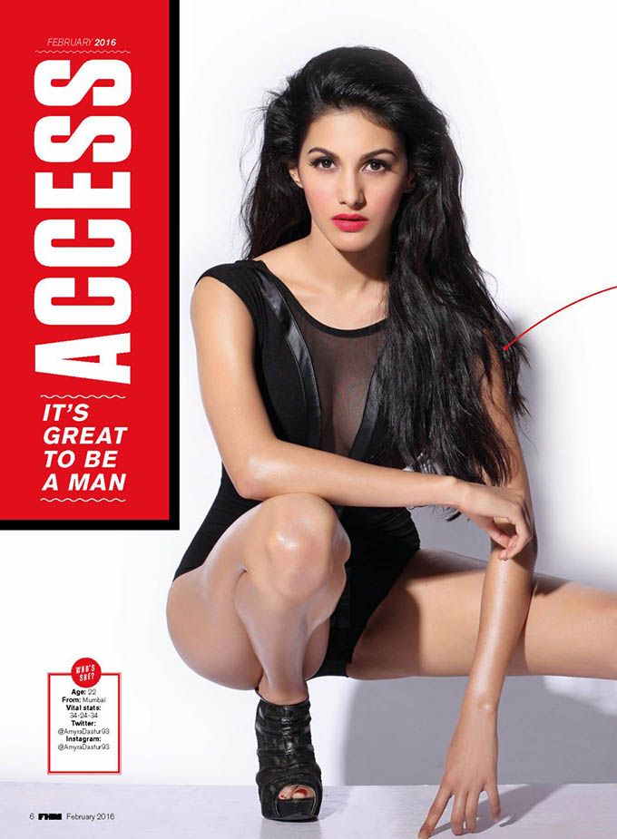 Amyra Dastur #photoshoot for FHM India Magazine February 2016. #Bollywood #Fashion #Style #Beauty #Hot #Sexy #Lingerie