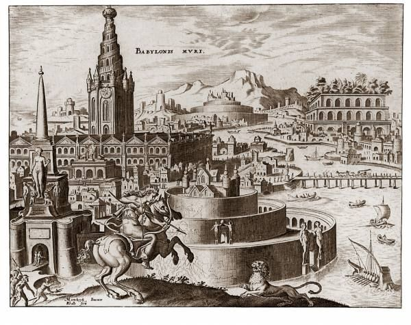 Maarten van Heemskerck (1498-1574) Hanging Gardens of Babylon.