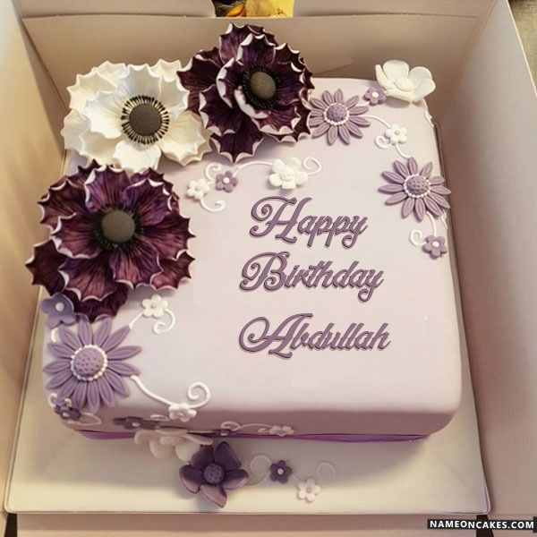 Download Happy Birthday Abdullah Cake And Say Happy Birthday In A Beautiful Way Edi Happy Birthday Wishes Cake Latest Birthday Cake Happy Birthday Cake Images