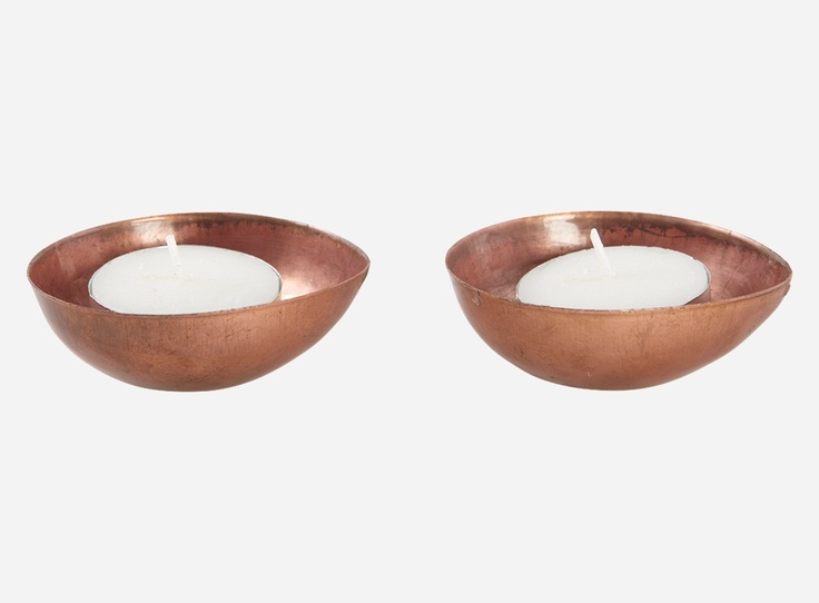 Candlestand f. tealight, EGG, copper plated, 6.7x6 cm, h.: 6.25 cm, 6 pcs/pack