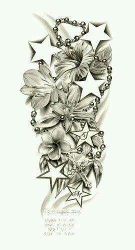 Flowers/rosemary beads/stars...