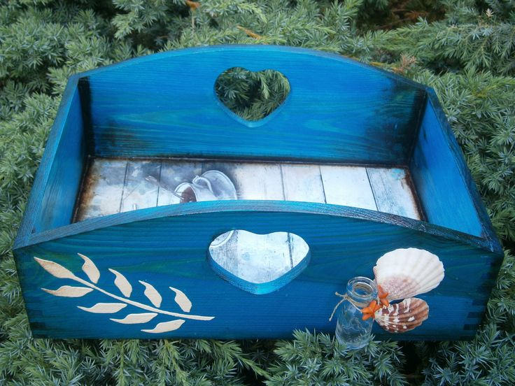 Decoupage marine platter, tray, taca tacka marynarska