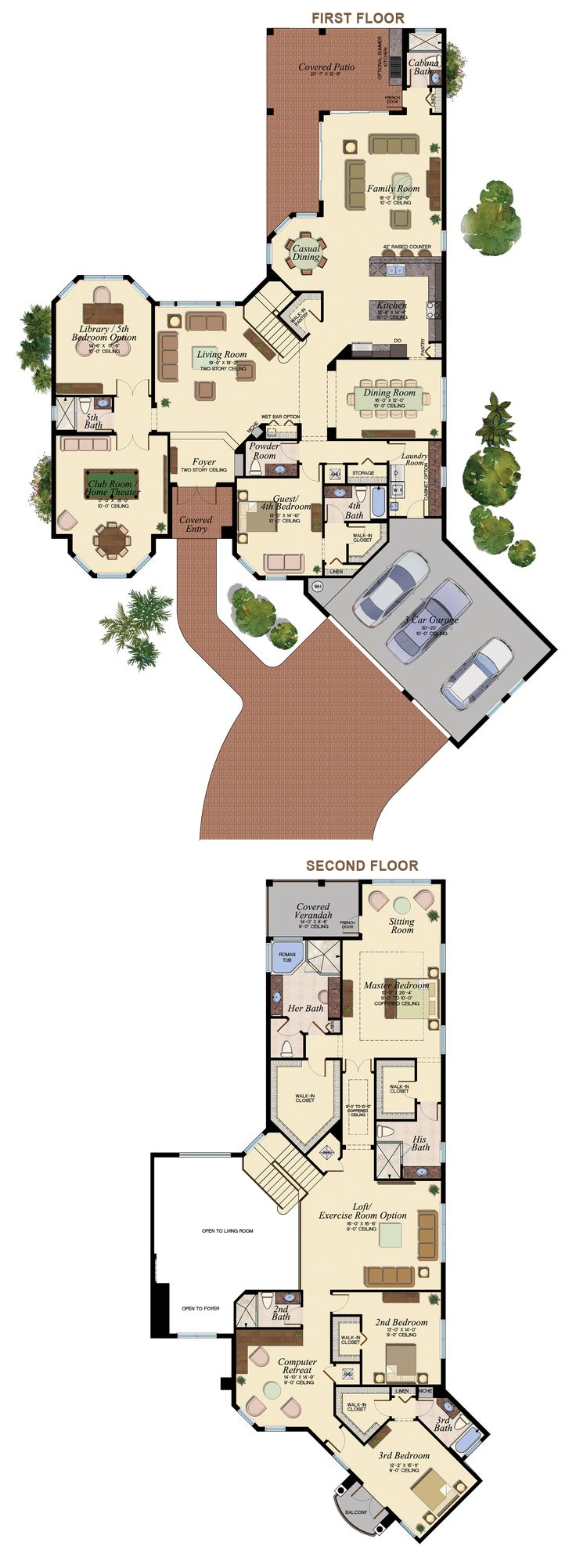 1000 images about Large House Plans on Pinterest French country