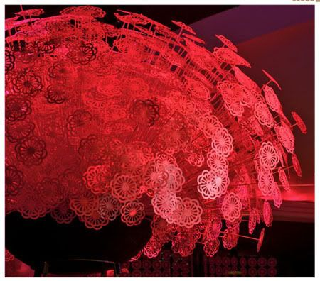 Paper Flower Centerpiece by David Stark