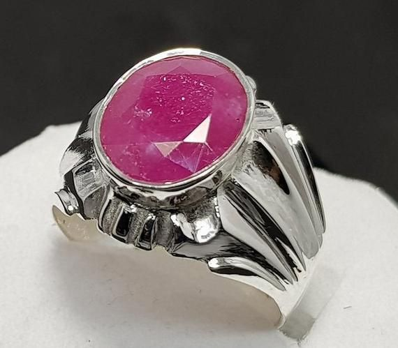 Ruby Ring Emerald Ring Blue Sapphire ring 925 Sterling silver Natural Multi Color Gemstone Changeable Handmade ring Wedding gift