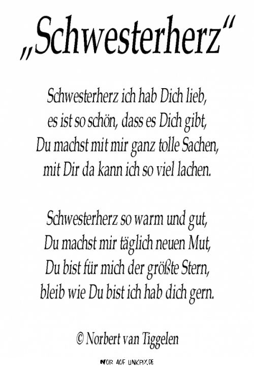 Beste schwester gedichte