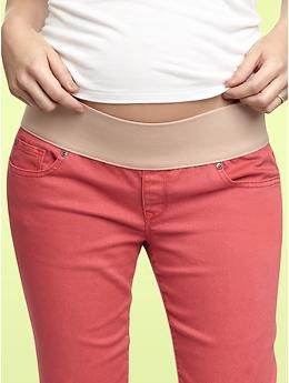 Gap's maternity jeans come in bright summer colors.