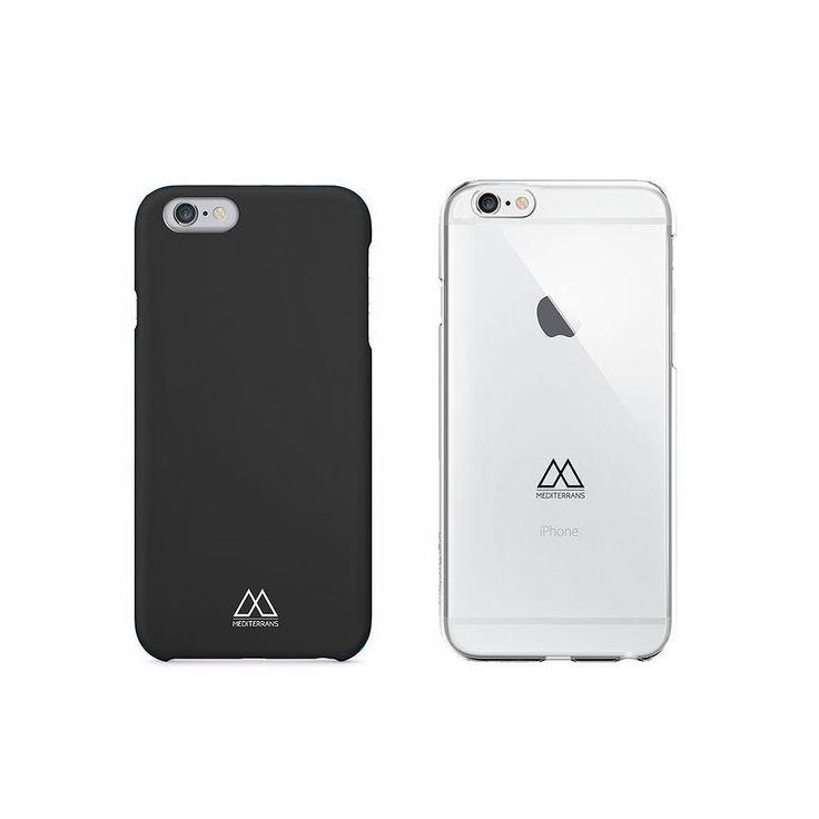 Negra o transparente?  disponibles para iPhone 6 y 6S: www.mediterrans.com