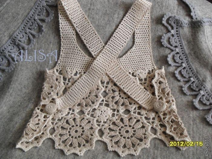 Inspiration...  Top gehäkelt / crochet top back