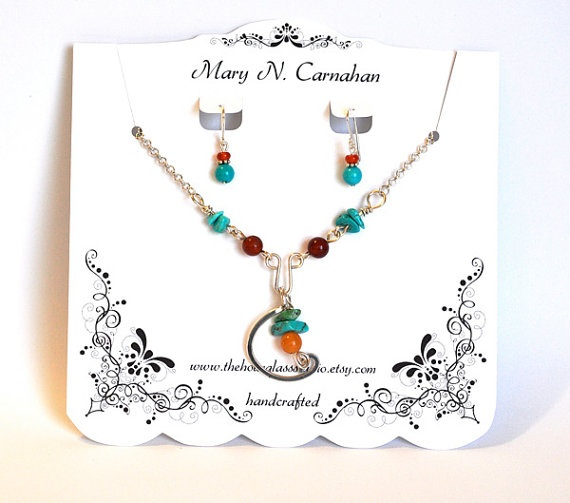 Custom Necklace Display    Earring Card by TheHourglassStudio, $13.00