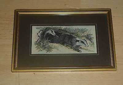 #Cashs coventry silk #woven vintage #framed picture of a badger,  View more on the LINK: http://www.zeppy.io/product/gb/2/141794908760/