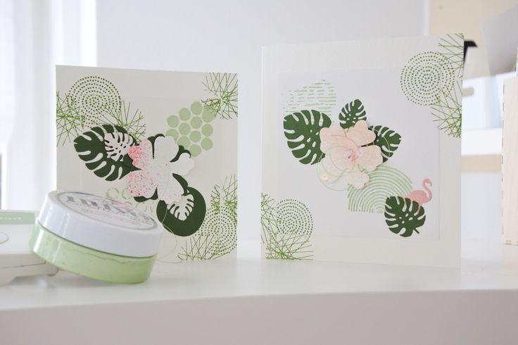 Tropisch, mit Hibiskus & Monstera Blätter by Melilis