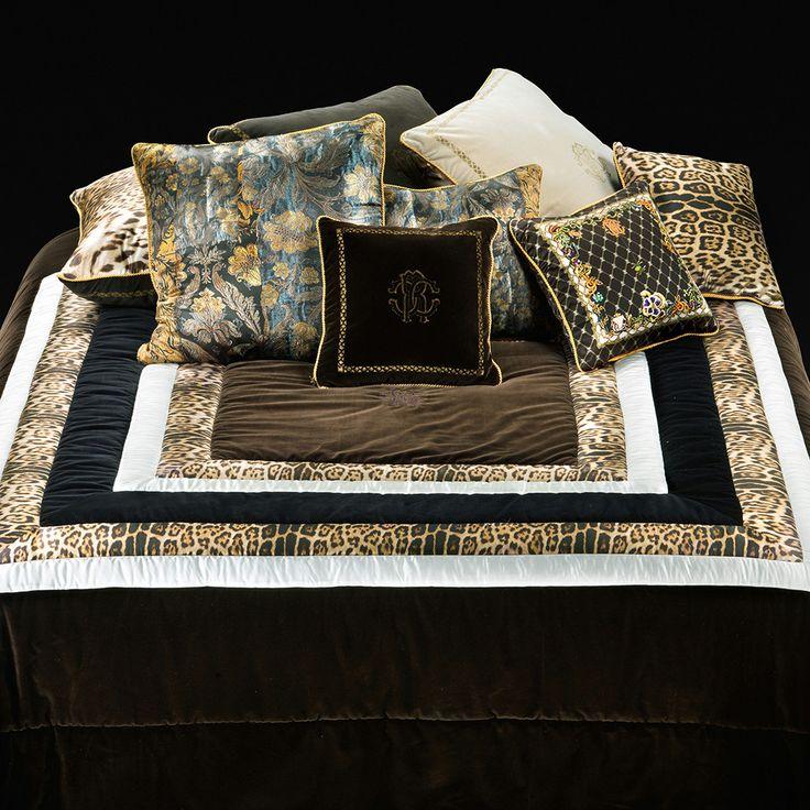 Discover the Roberto Cavalli Venice Comforter - Brown - 260x270cm at Amara