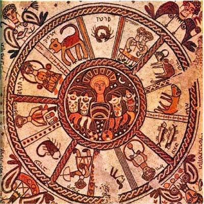 Zodiac on a synagogue floor at Beit Alpha, Israel (6th cent. AD/CE)