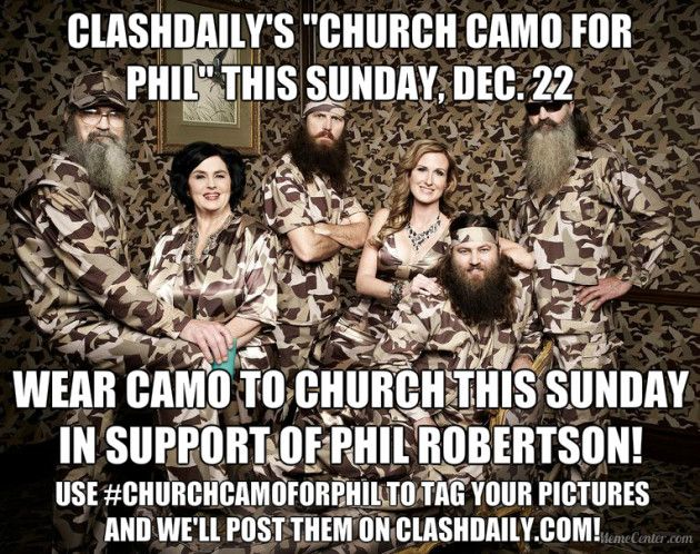 """SPREAD THE WORD: ClashDaily's """"Church Camo for Phil"""" This Sunday, Dec. 22"""