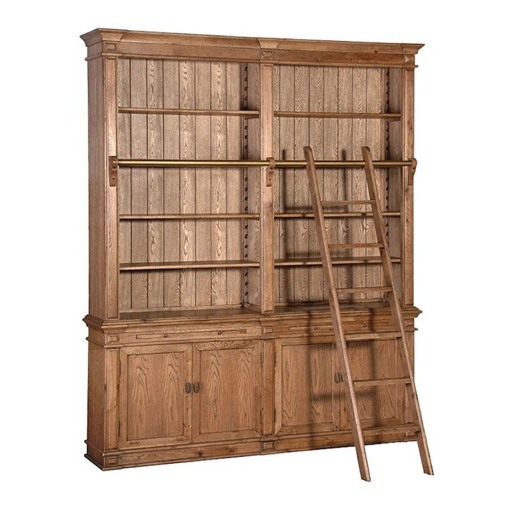 Double Bookcase with Ladder