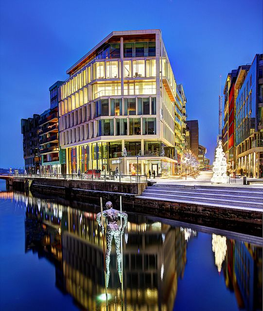 Aker Brygge, Oslo, Norway - Good restaurants and shopping and right on the water. Very beautiful