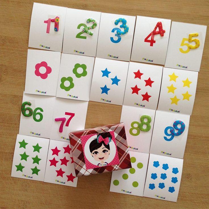 """""""Pia Polya Rakamları Ögreniyorum"""" Pek çok kırtasiyede, rakam etiketleri var. Çocuklar etiketlere bayılıyor. Siz de satın alıp benim kartlarım ile eşleştirme yaparak rakamları öğretebilirsiniz. 24 ay sonrası çocuklarınız için uygundur. A3 bir sayfa çıkış alabilirsiniz."""