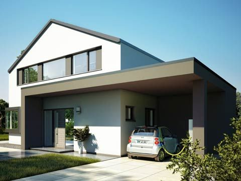 Stadtvilla mit carport und garage  60 best Haus images on Pinterest | Live, Modern houses and House ...