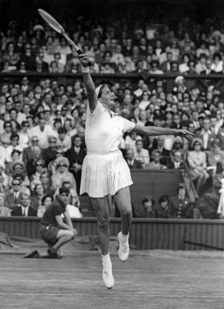 Margaret Court was an Australian tennis player who dominated women's competition in the 1960s. She won 66 Grand Slam championships and in 1970 became the second woman (after Maureen Connolly in 1953) to win the Grand Slam of tennis singles: Wimbledon, the U.S. Open, the Australian Open, and the French Open titles in the same year.