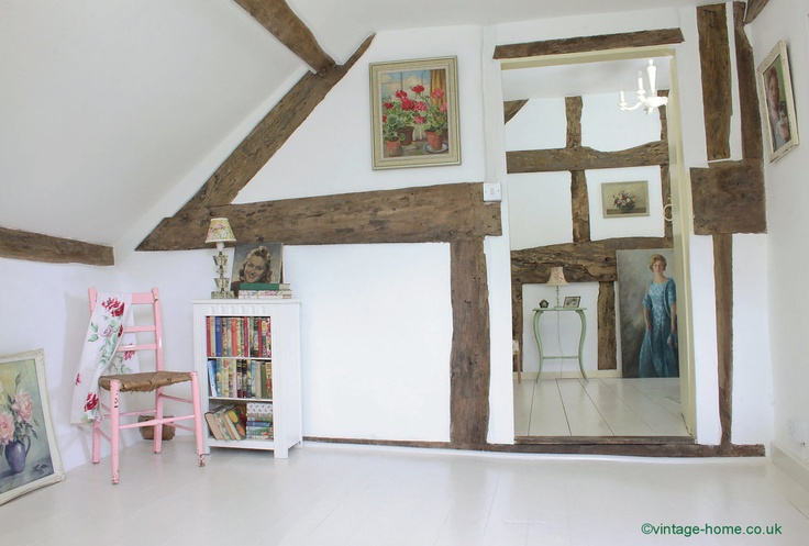 English Country Cottage | Landing area leading to bedroom in our 17th century Herefordshire cottage