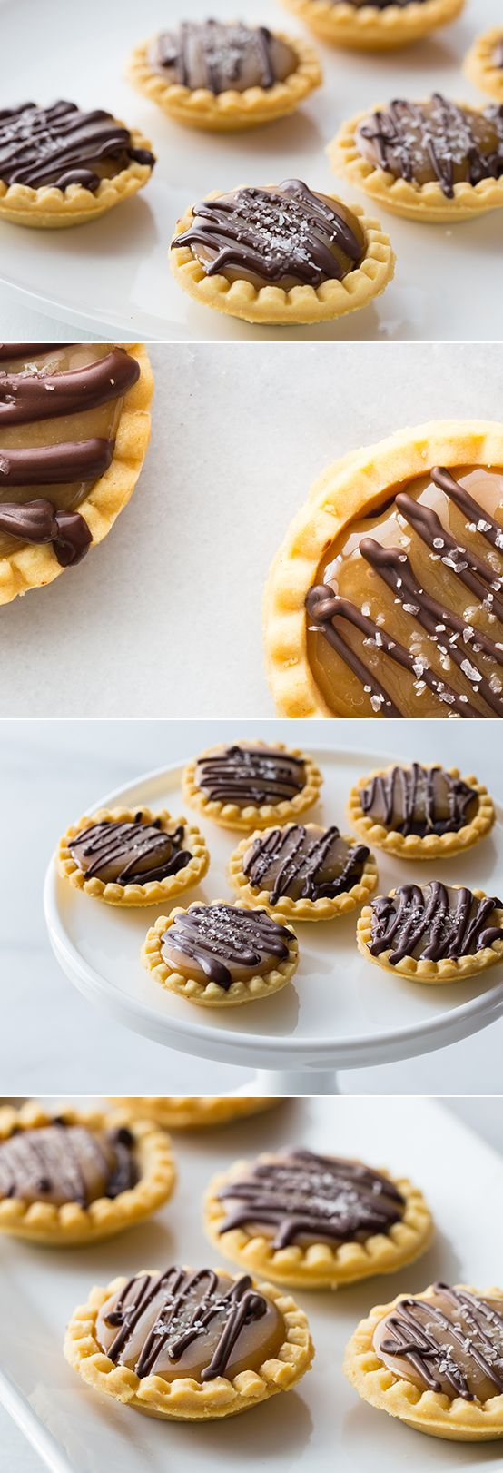A mouthwatering mix of salty and sweet, these Mini Salted Caramel Chocolate Pies are perfect for holiday gatherings.