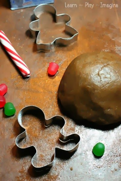 Four ingredient recipe for gingerbread dough, a fun and festive recipe for play!