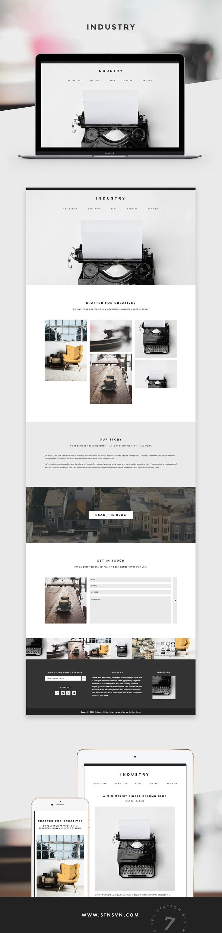 Industry WordPress Theme - Station Seven WordPress Themes