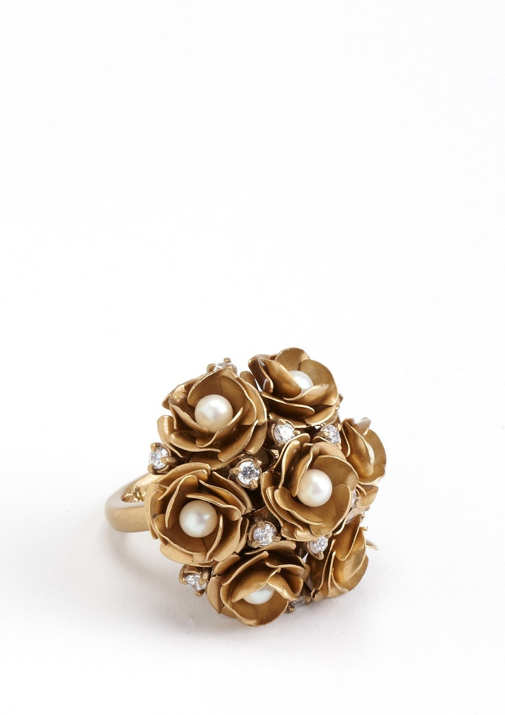 Juicy Couture Rose Cluster Ring
