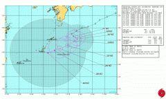 関東東北北海道の方々 台風号充分にお気をつけ下さい  そして九州沖縄の方々 台風10号の動きも心配です今後アメリカ海軍の情報ではこういう動きをするようです  来週には北上するという見方もあります 備えましょう  #台風10号#台風